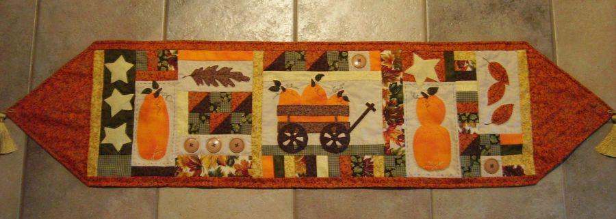 Awesome Flitter Flutter Table Runner · Fall Table Runner Pattern From Turnberry  Lane Patterns ...