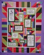 Wildflowers Gone Wild - Colorful Quilt Pattern to Stitch