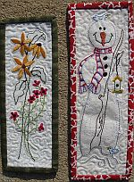 Machine Embroidery Bookmarks- Daisy and Frosty-by Turnberry Lane