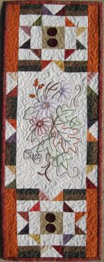 October mini machine embroidery pattern from Turnberry Lane Patterns
